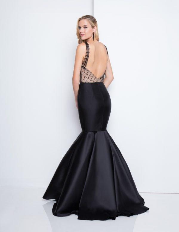 Sexy Deep V Neckline Detailed Mermaid Prom Dress – 1811P5229