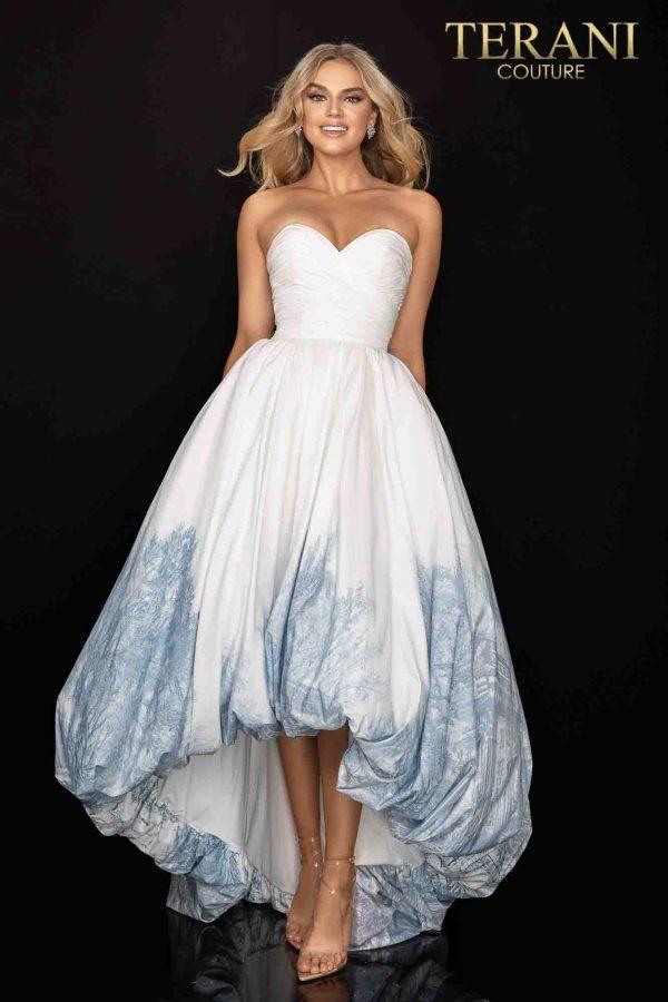 Sweetheart neckline high low bubble skirt prom dress – 2011P1003