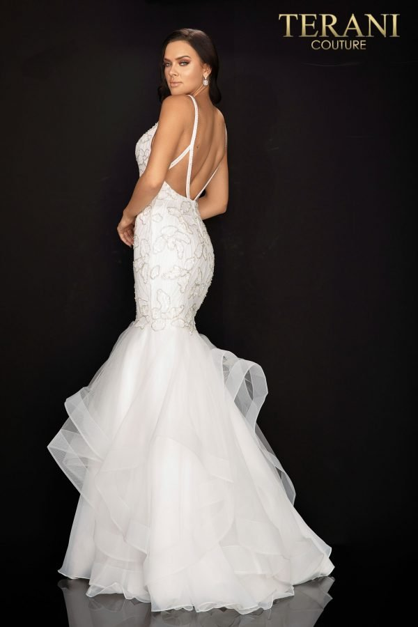 Form fitting beaded mermaid prom gown – 2011P1146