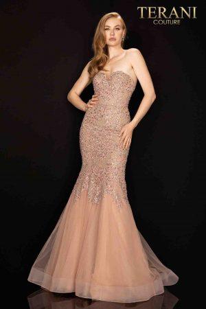 Heavily beaded sweetheart prom dress – 2011P1148