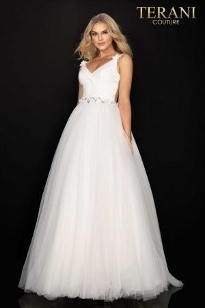 Fairytale beaded long prom ball gown-2011P1173