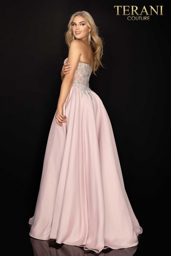 Strapless beaded sweetheart neckline prom gown – 2011P1197