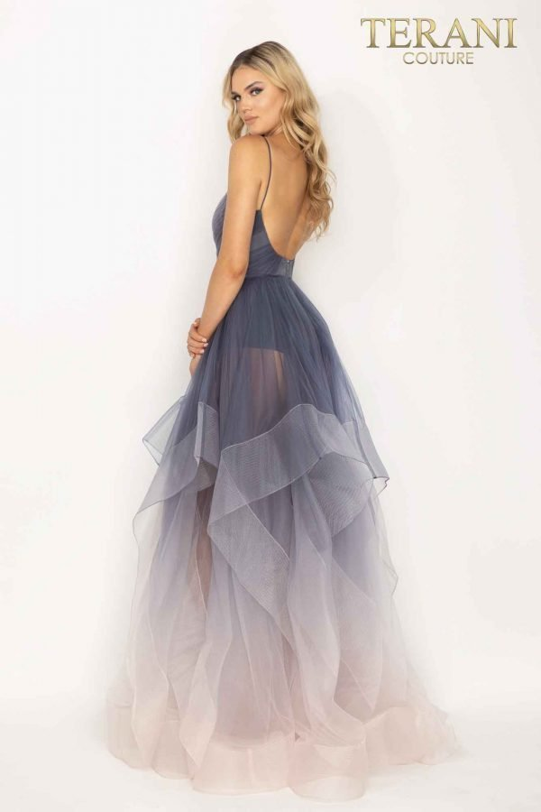 Fairytale ombre and layered Tulle prom ballgown – 2011P1212