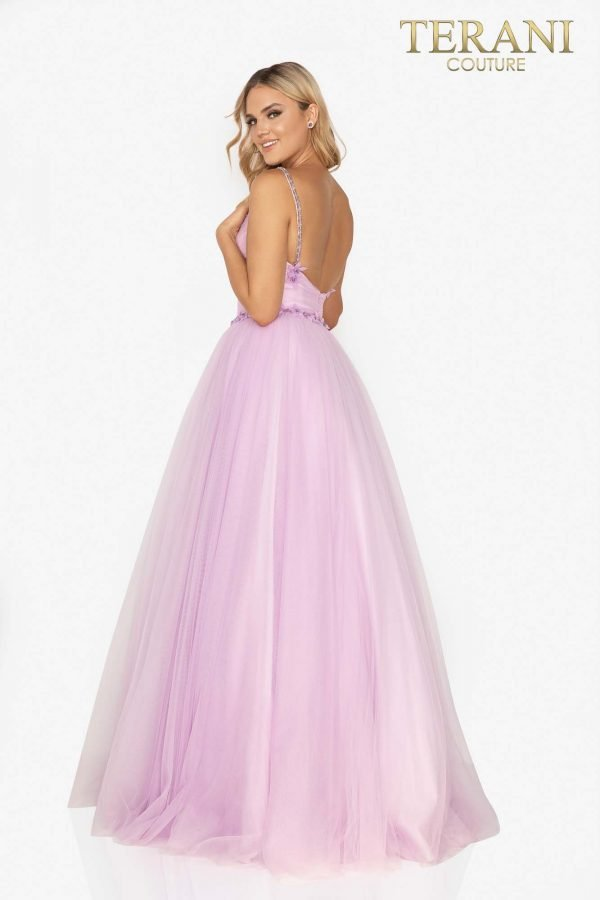Exquisite long prom ball gown with beaded waistline – 2011P1232
