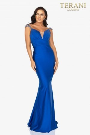 Sleeveless open back long prom gown – 2011P1469