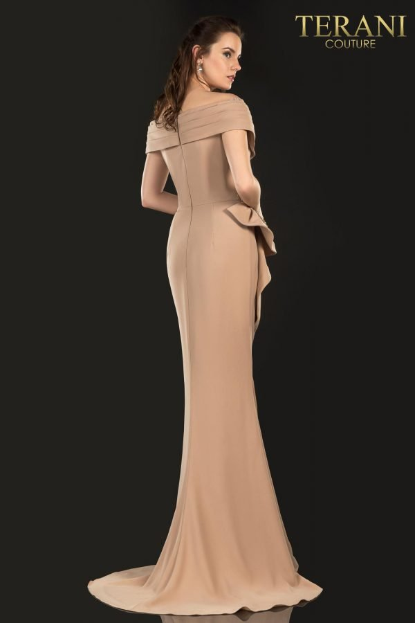 Mother Of The Bride Stretch, Off Shoulder With Bead Applique – 2021M2986