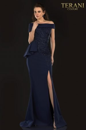 Mother Of The Bride Stretch With Embroidered And Bead Detail – 2021M2987