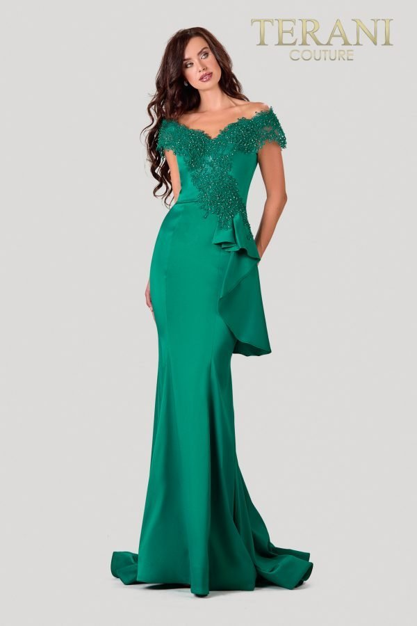 Emerald Mother Of The Bride Dress In A Trumpet Fit – 2111M5255