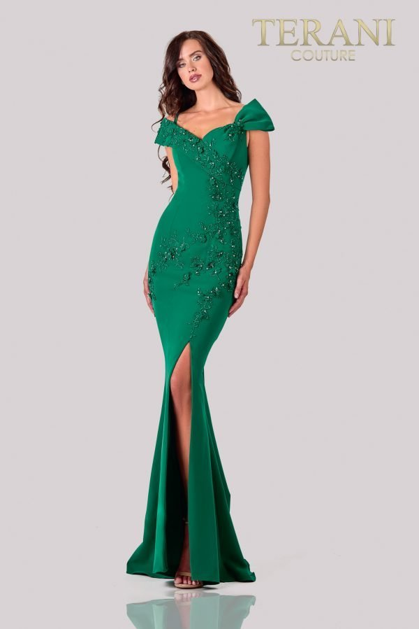 Emerald Applique Mother Of The Bride Dress - 2111M5261