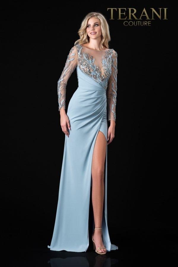 Elegant Champagne Colored Mother Of The Bride Dress  - 2111M5266