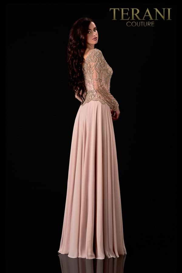 Sweetheart Neck Champagne Mother  Of The Bride Dress  – 2111M5268