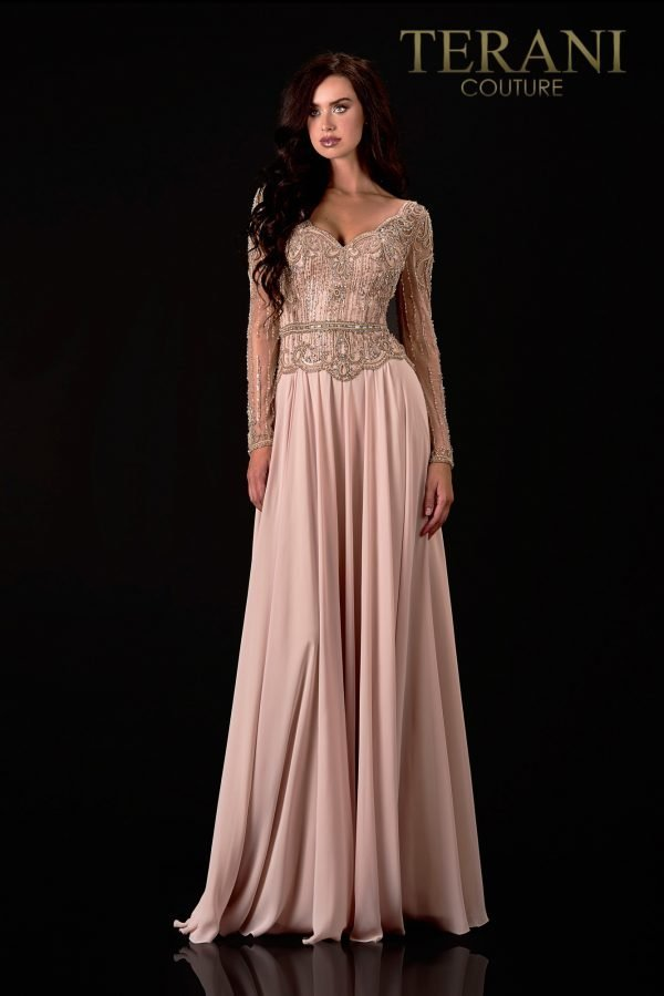 Sweetheart Neck Champagne Mother  Of The Bride Dress  - 2111M5268