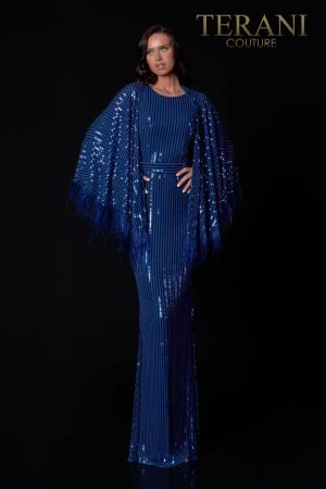 Vogue Mother Of The Bride Dress With Vertical Lined Sequins – 2111M5279