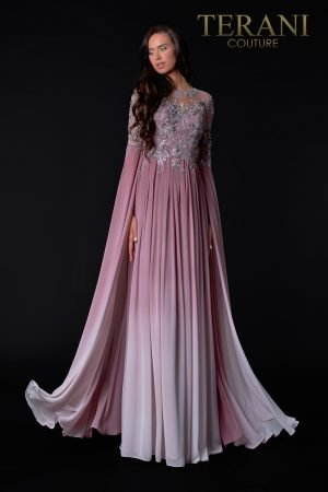 Full Sleeve Rose Ombre Mother Of The Bride Dress – 2111M5282