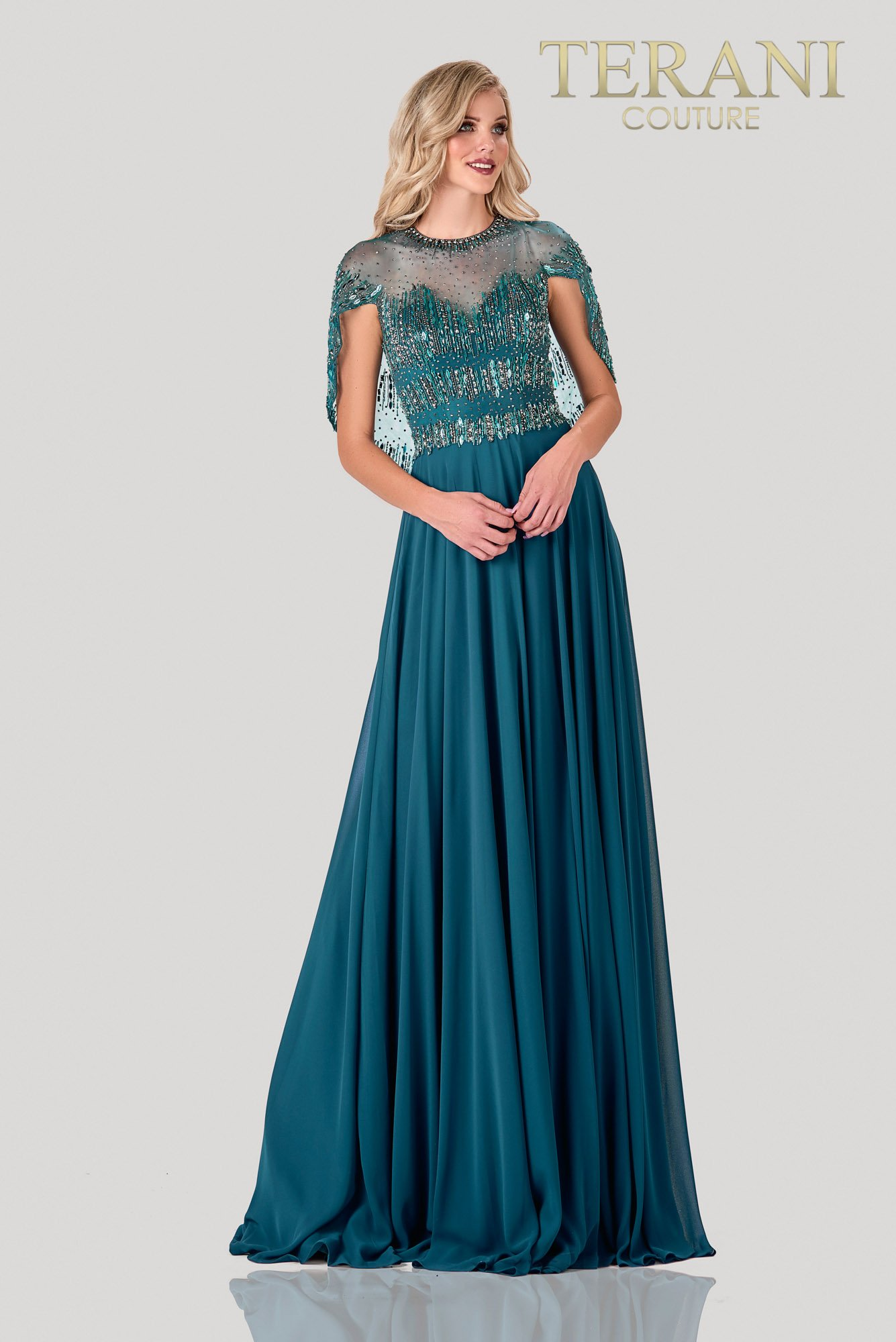 Bead Embellished Mother Of The Bride Dress - 2111M5295
