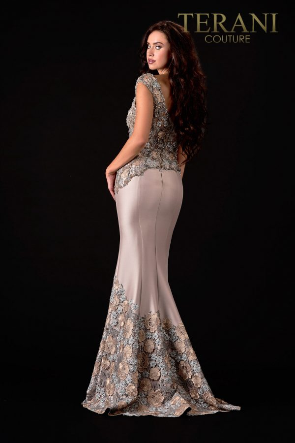 Trendy A Line Pewter Bronze Mother Of The Bride Dress  – 2111M5302