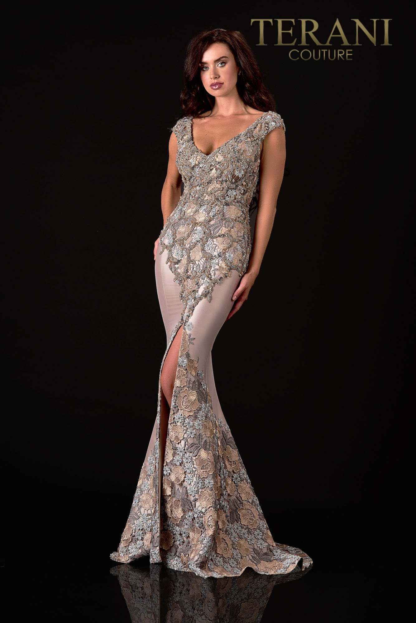 Trendy A Line Pewter Bronze Mother Of The Bride Dress  - 2111M5302