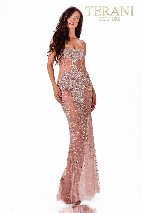 A-Line Blush Prom Dress – 2111P4010