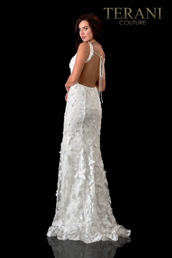 3D Butterfly Ivory Prom Dress – 2111P4015