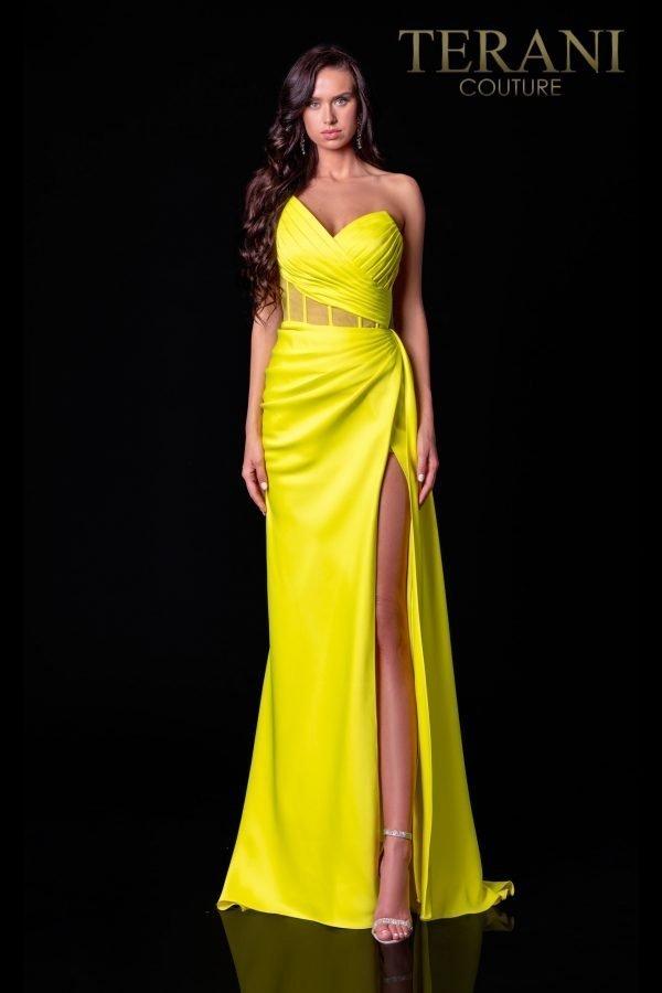 Citrine Prom Dress With Corset Bodice – 2111P4020