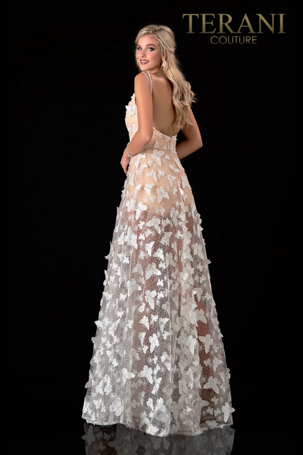 Ivory Nude Prom Dress With A Glamorous Motif – 2111P4045