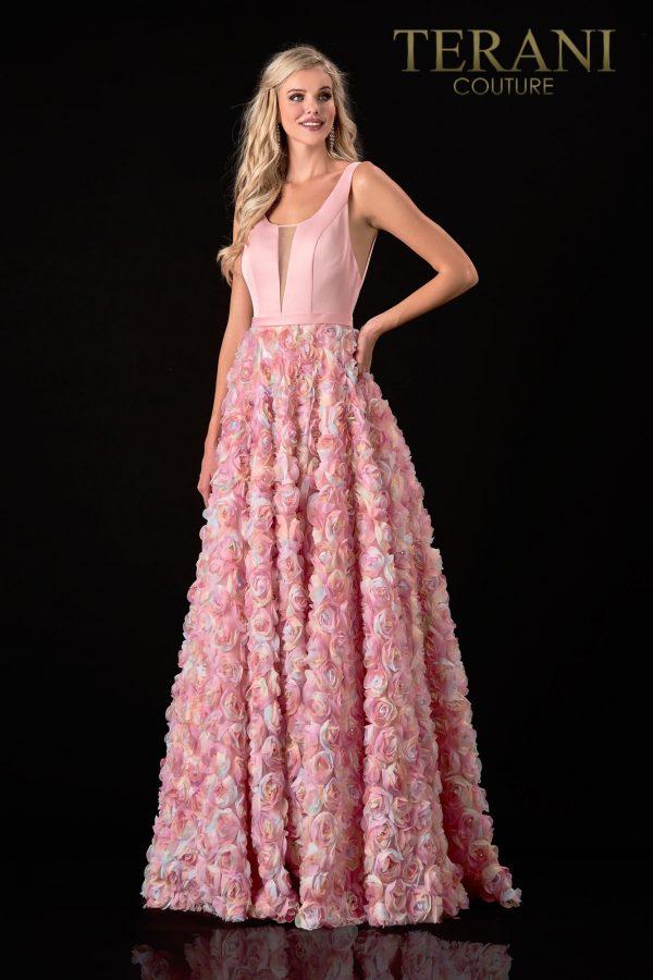 Chic Sleeveless Blush Prom Dress – 2111P4102