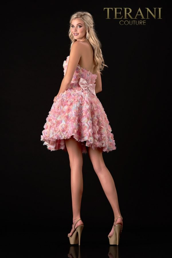 Blush Prom Dress With 3D Flower Detail – 2111P4248
