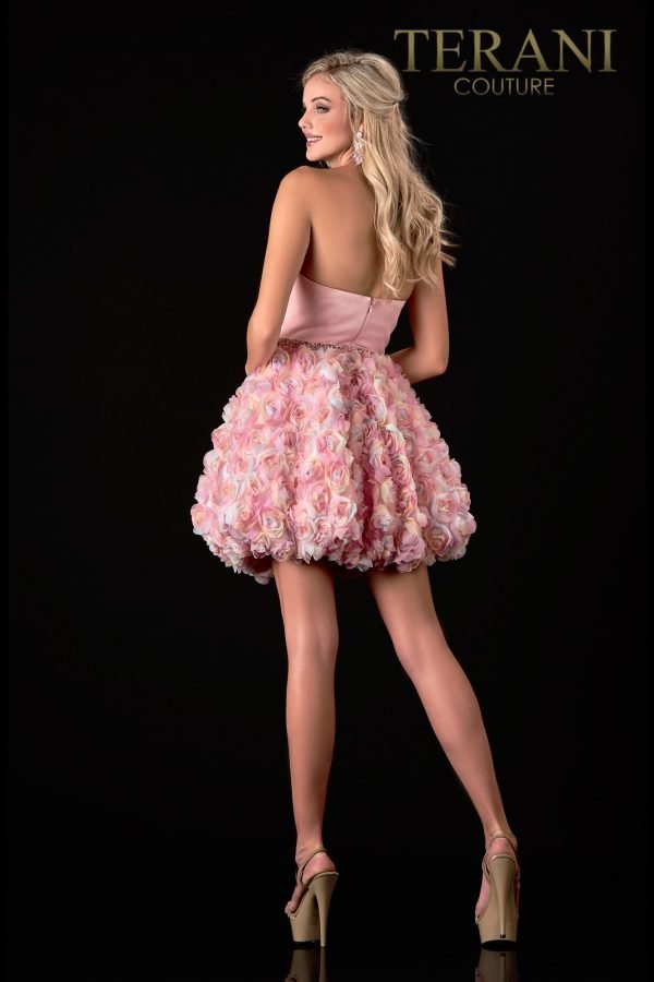 Short Strapless Blush Prom Dress – 2112P4391